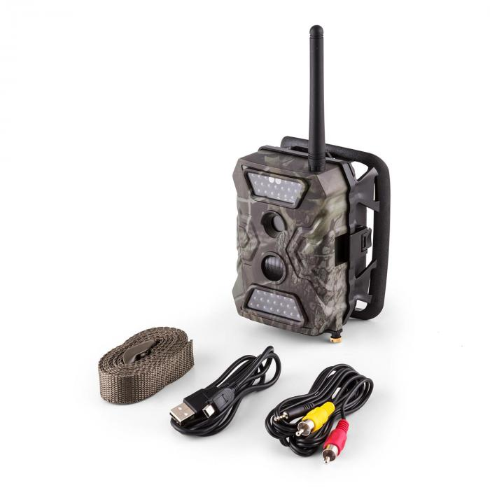 GRIZZLY Mini GSM Wild Camera 40 Black LEDs 12 MP Full HD Batterie