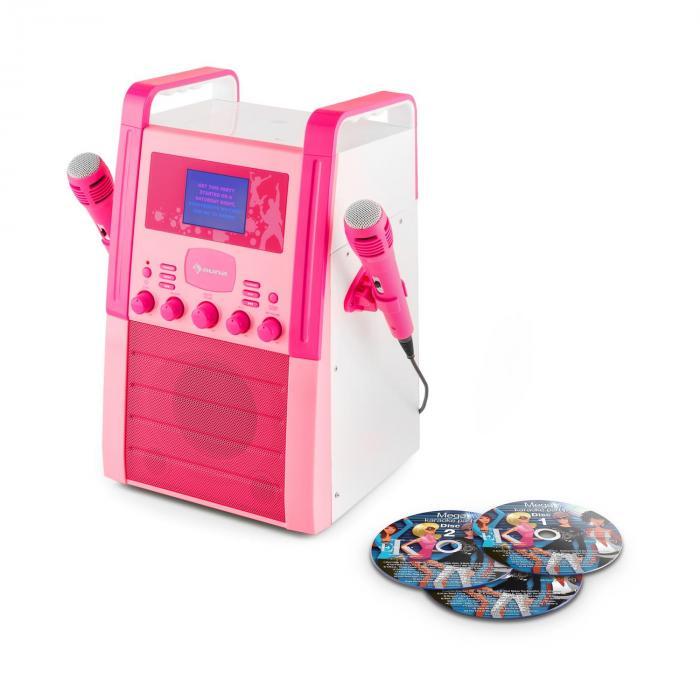KA8P-V2 Impianto Karaoke Lettore CD AUX 2 x Microfoni 3 x CD+G