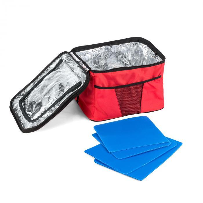 Red Devil Carretto Da Trainare Carretto A Mano Pieghevole 68kg Tasche Laterali Rosso