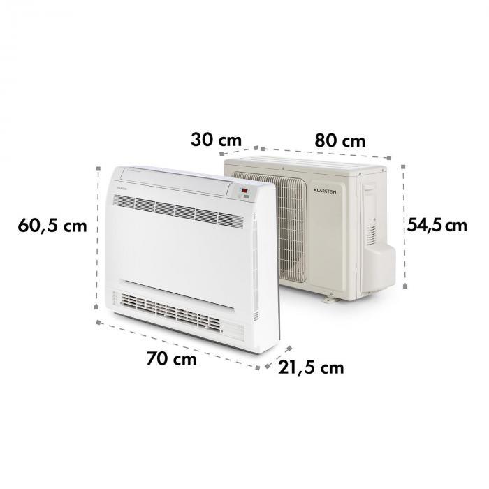 Ground Control 12 Inverter Split Klimaanlage Splitgerät A++ weiß