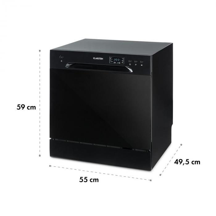 Amazonia 8 Dishwasher Mini Dishwasher A + 1620W Black