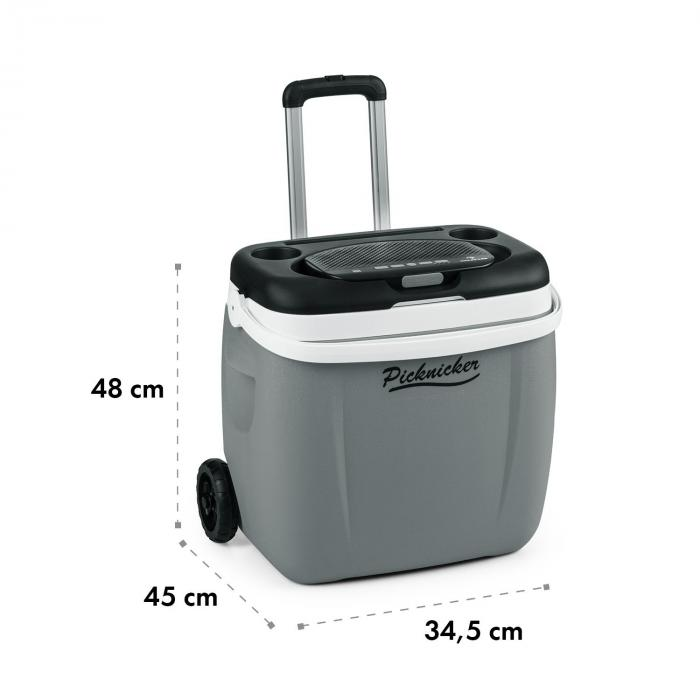 Picknicker Trolley Music Cooler 36l Trolley Borsa Frigo Altoparlanti BT grigio