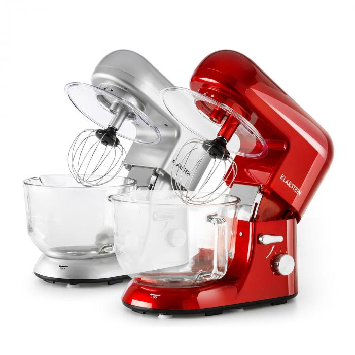 Bella Rossa 2G Kitchen Machine 1200W 2.5 / 5 Litre Glass Bowl Red