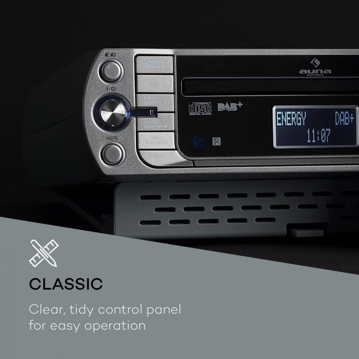 KR-400 CD keukenradio, DAB+/PLL FM, CD/MP3 player zilver