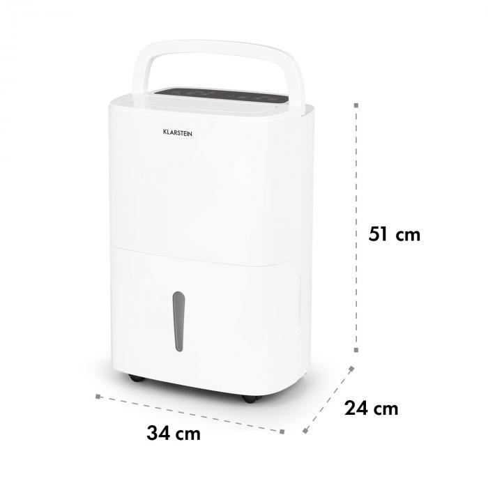 DryFy 20 Deumidificatore Compressione 20l/24h 420W Timer Bianco