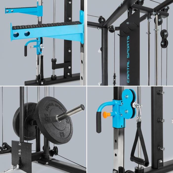 Pro Amaze Smith Machine Cable Cross leuanvetotanko