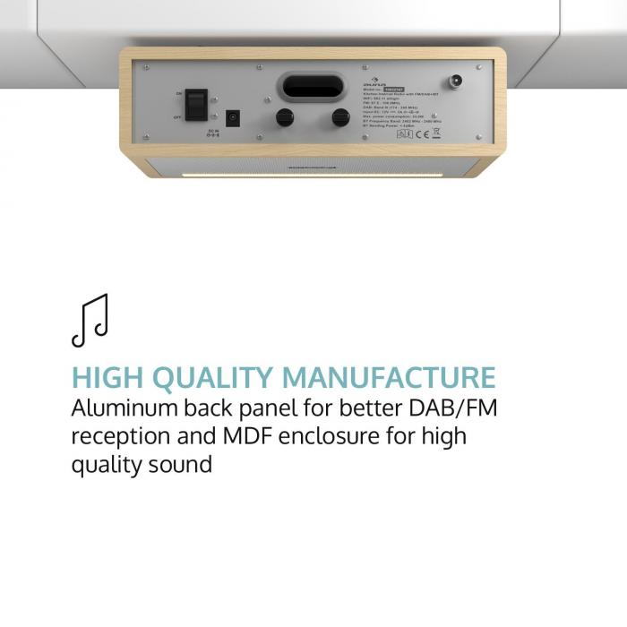 "Connect Soundchef Substructure Kitchen Radio Internet DAB+ FM 2x3"" Speakers beech"