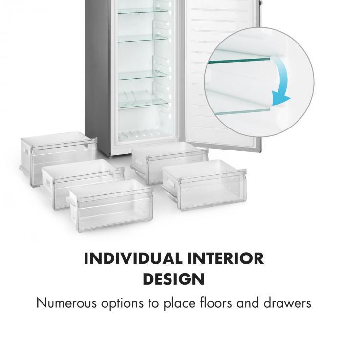 iceblokk hybrid gefrierschrank k hlschrank 227 liter a edelstahl optik online kaufen. Black Bedroom Furniture Sets. Home Design Ideas