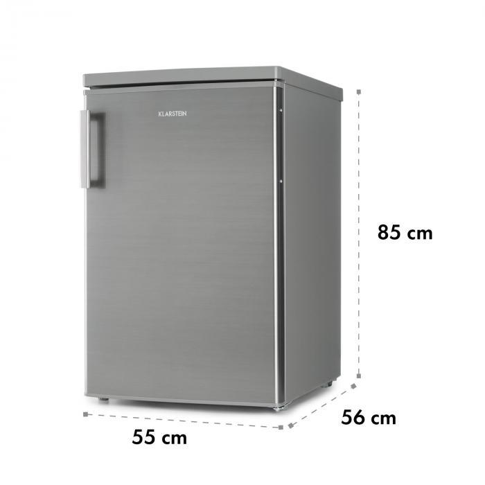 coolzone 120 eco k hl gefrierkombination a 118 liter edelstahl look online kaufen. Black Bedroom Furniture Sets. Home Design Ideas