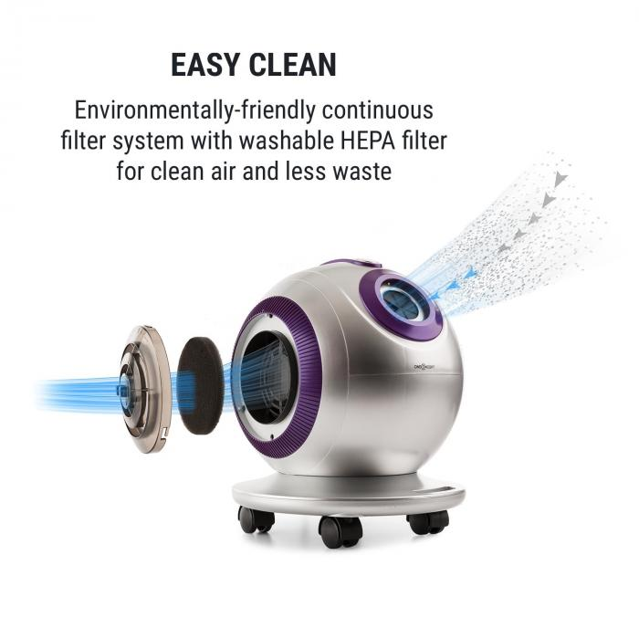 Pila Vacuum Cleaner, 800 W, Bagless, HEPA Filter Class H11, 18 kPa