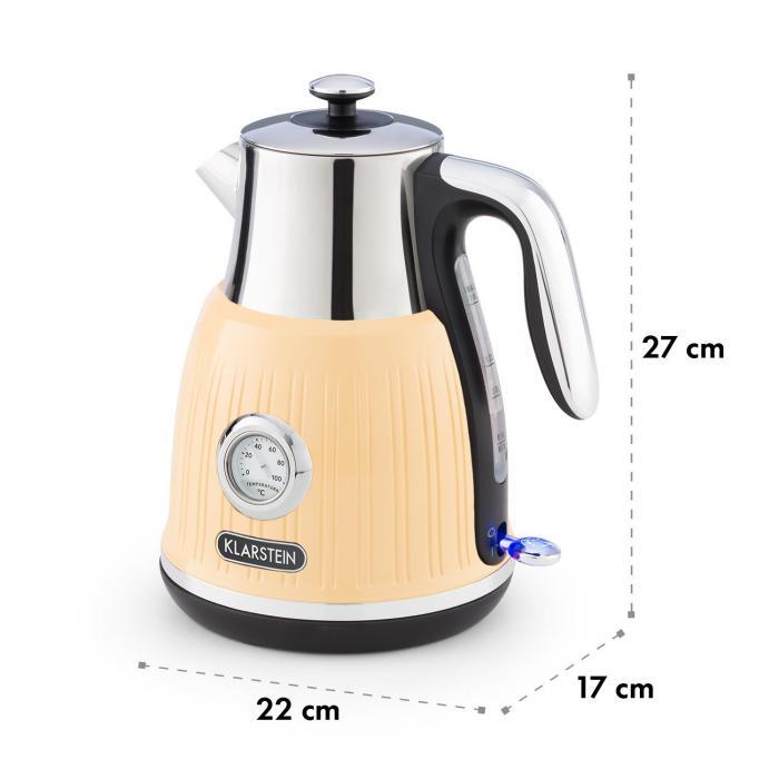 Cancan Kettle 1.6L 1800-2150W Retro Design 360° Device Base Cream