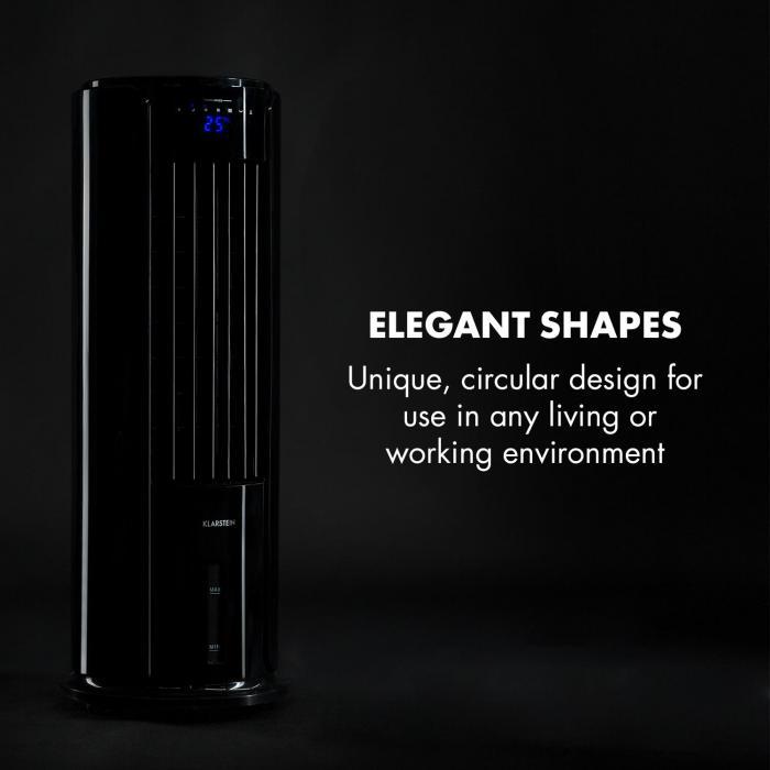 Skyscraper Horizon luchtkoeler ventilator 60W 486m³/h 3,5L tank zwart