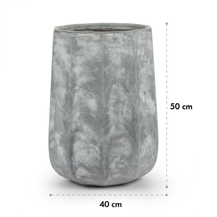 Decaflor kukkaruukku 40 x 50 x 40 cm lasikuitu sisä-/ulkokäyttöön vaaleanharmaa