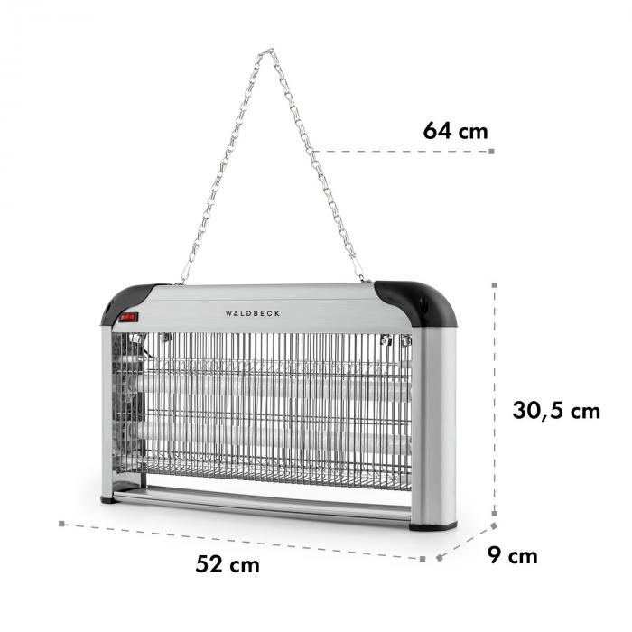 Mosquito Ex 5000 Insect Killer 38W UV Light 150m² Silver