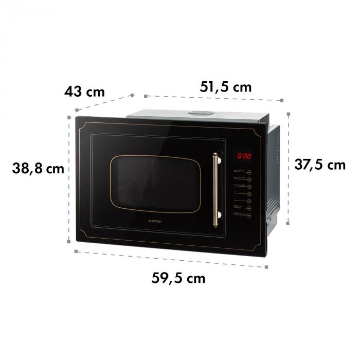 Victoria 25 Built-in Microwave 25 l 900 W Grill: 1000 W Black
