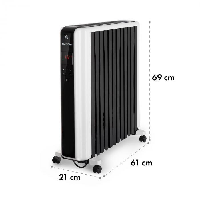 Thermaxx 2500 Ölradiator 2500W 5-35° C 24h-Timer weiß/schwarz