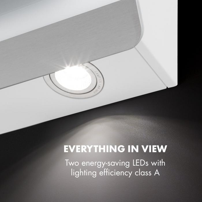 Aurora Eco 60 Dunstabzugshaube 550 m³/h LED-Display Energieeffizienzklasse A++ weiß