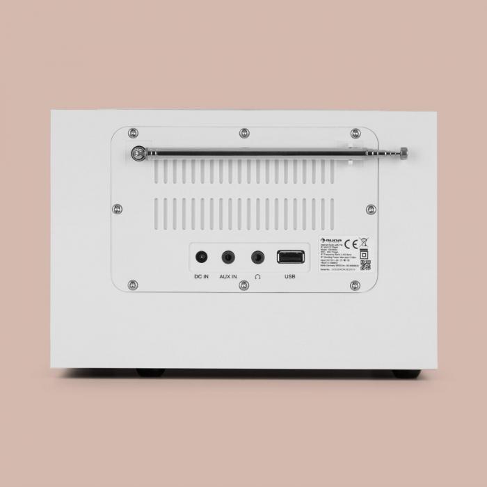 Silver Star CD Cube Radio Bluetooth HCC-näyttö valkoinen