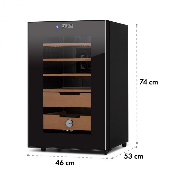 El Presidente 65 Humidor 70 W Touch Faggio 65L LED nero