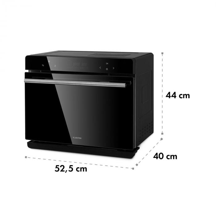 MasterFresh stoomoven 230°C 24L touch bediening zwart