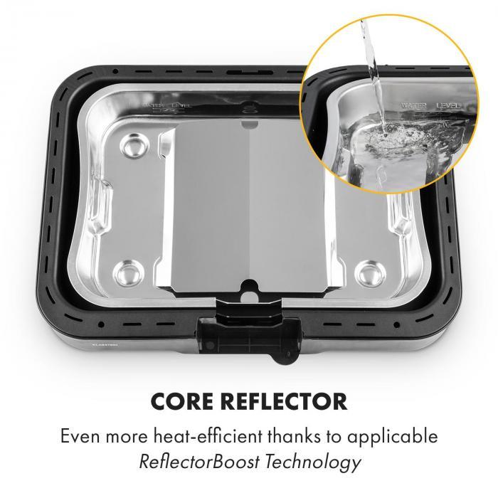 Grillkern sähkögrilli 1900+800W kaksoiskuumennusosa ReflectorBoost