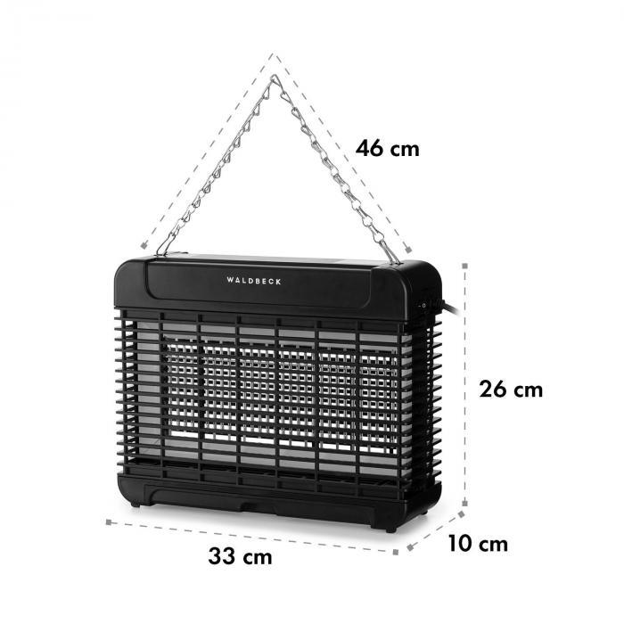 Mosquito Ex 5500 13W 150m² LEDs Auffangschale Kette schwarz