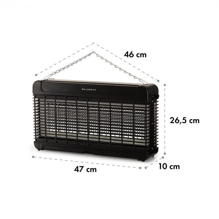 Mosquito Ex 9500 13W 300m² LEDs Auffangschale Kette schwarz
