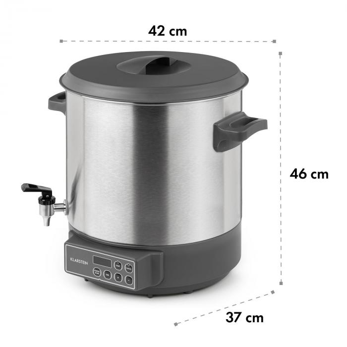 Lady Marmalade Automatic Preserving Cooker Beverage Dispenser 27L 100 ° C 12h Stainless Steel