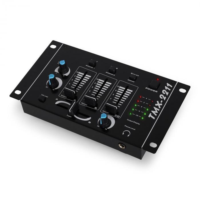 "SET DJ""DJ-20.1"" amplificatore casse mixer microfono 2000W"