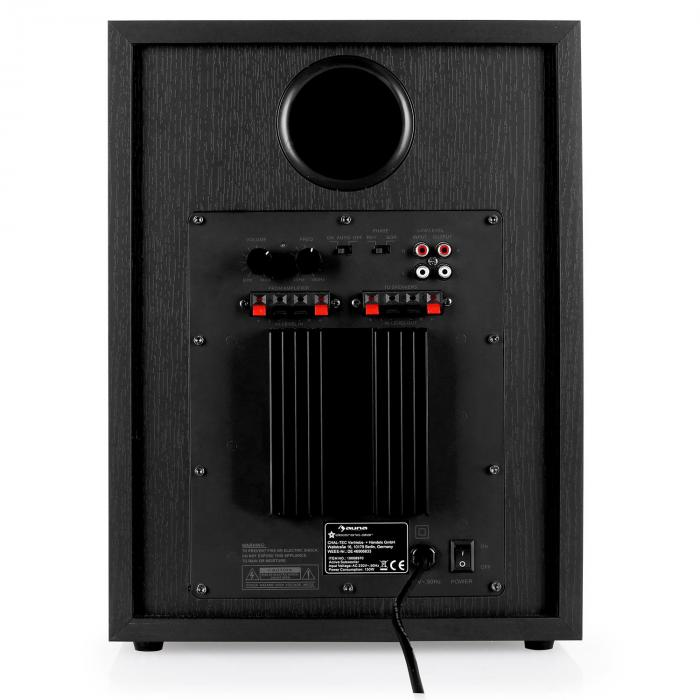 Black-Line 5.1 home cinema set sound system - zwart