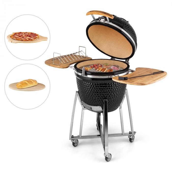 "Kingsize Kamado Barbecue Griglia In Ceramica 21"" Acciaio Inox"