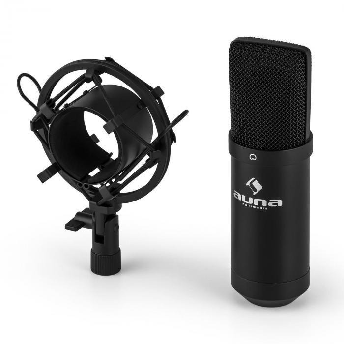MIC-900B-LED USB kondensaattorimikrofoni musta herttakuvio studio LED