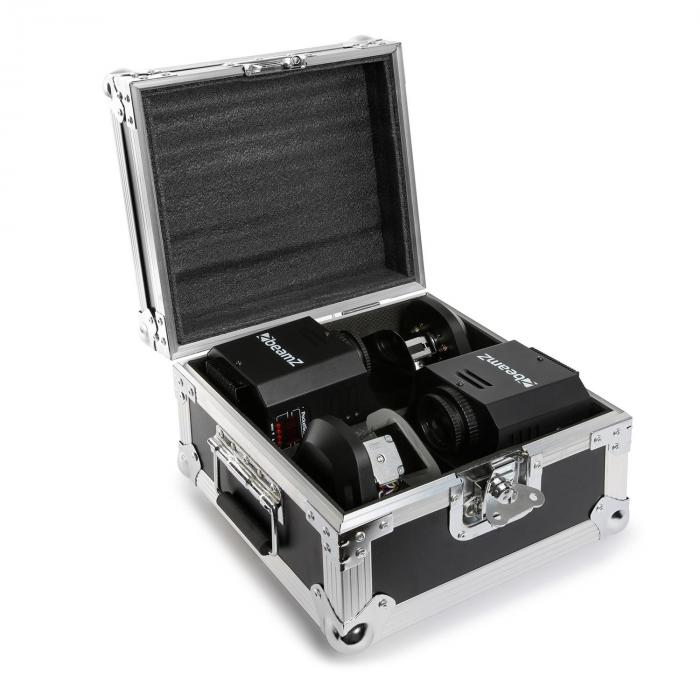 3-in1-PocketScan LED Set aus 2 Scannern & Flightcase 12W-Cree-LED 7-Farben