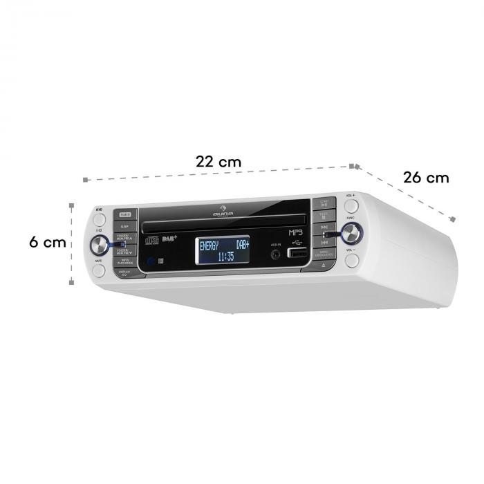 KR-400 CD keukenradio, DAB+/PLL FM, CD/MP3 player wit