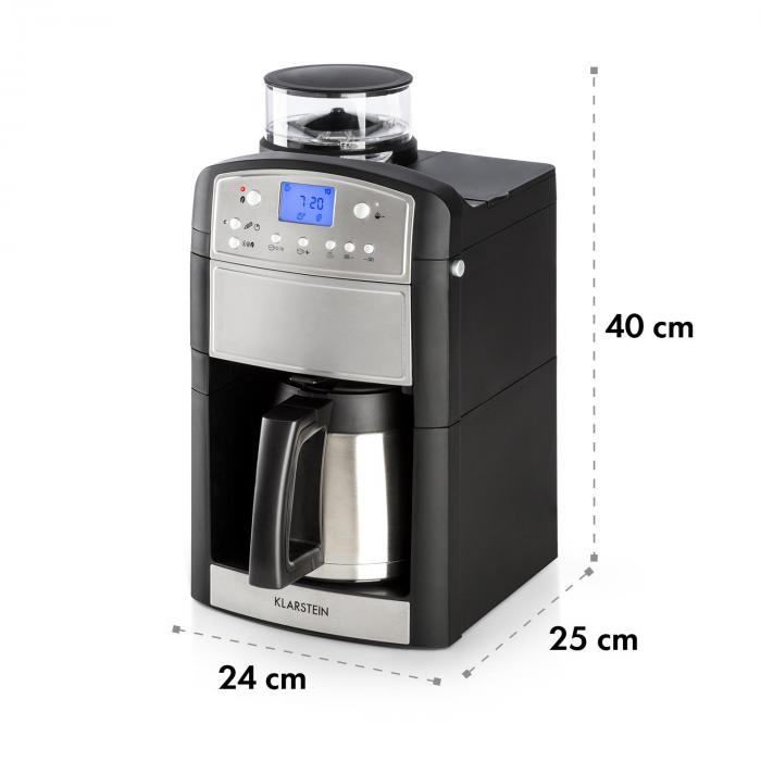Aromatica Thermos Macchina Per Caffè Macinino 10 Tazze Brocca In Vetro Aroma+ Acciaio Inox