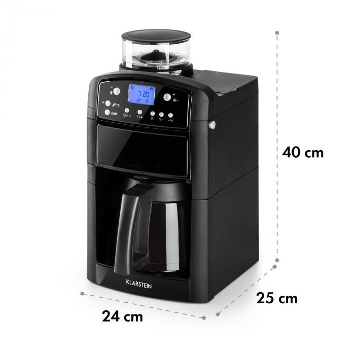 Aromatica Thermos kahvikone mylly termoskannu Aroma+ musta