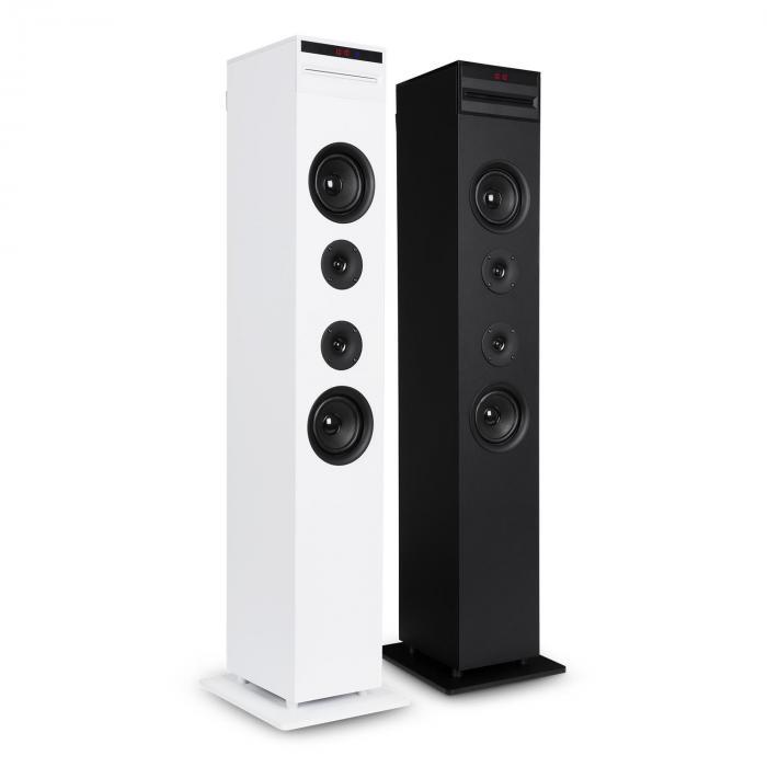 Karaboom CD karaokelaite bluetooth MP3 USB-laturi mikrofoni FB valkoinen
