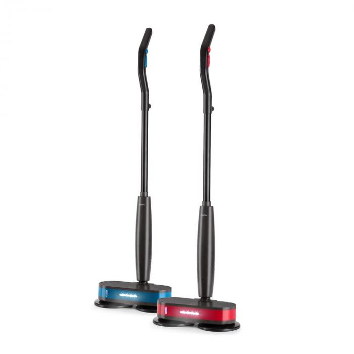 FurbyFloor Mop and Polisher LEDs Battery Operated 60W Black/Red