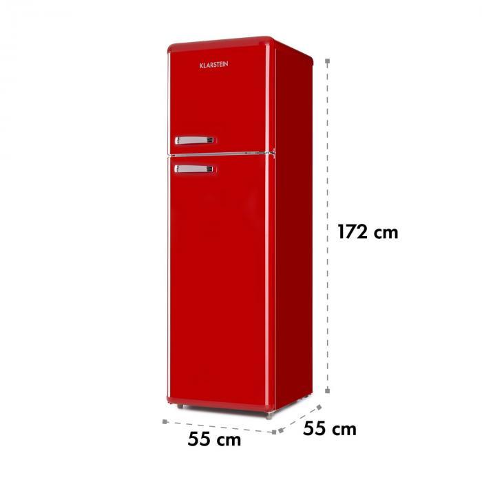 audrey retro retro k hl gefrier kombination 194 56 liter a rot rot online kaufen. Black Bedroom Furniture Sets. Home Design Ideas
