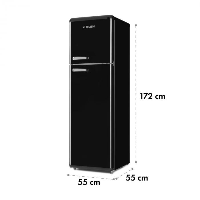 Audrey Retro Fridge-Freezer Combination 194/56 Liter A++ black