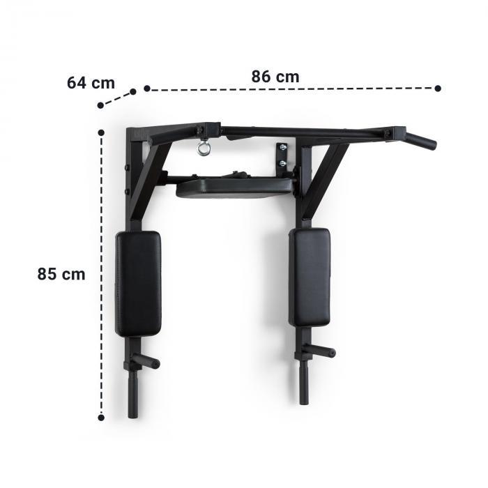 Bouncer MultiGym tanko- & dippiasema 200kg teräs musta