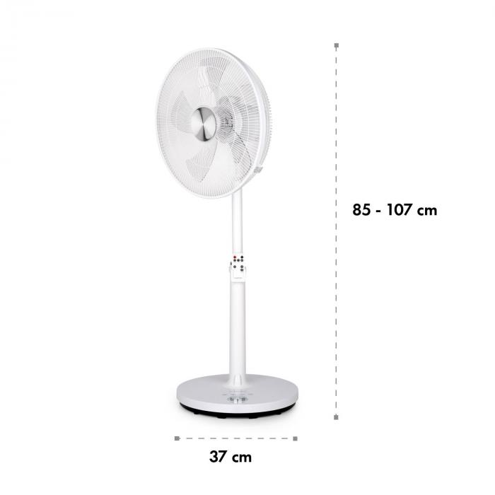 "Clear Stream Ventilatore 16"" 28W 3120m³/h Oscillazione 90° bianco"