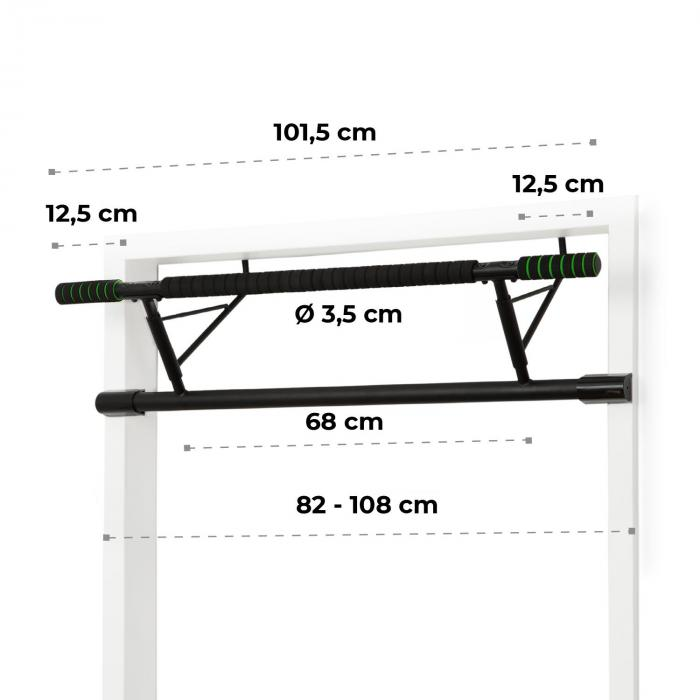 Klarfit In Door Pull Up Bar Door Frame Suspension 130kg