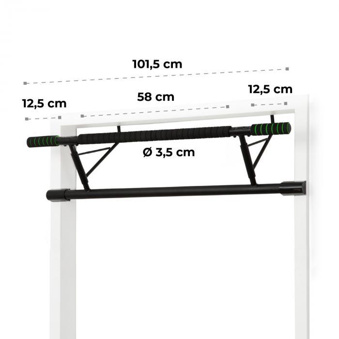 In-Door Barra di Trazione Montaggio al Telaio Della Porta 130kg EVA-Pad Acciaio Nero