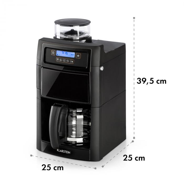 Aromatica II -kahvikone, jauhatus, 1,25 l, musta