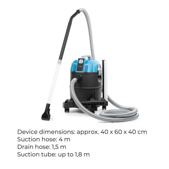 Lakeside Power aspirafango per laghetti 1400W 18kPa 35l serbatoio blu