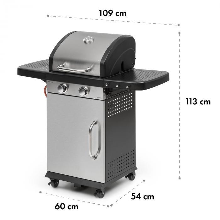 Gazooka 2.0T Gas BBQ Grill 2x3kW Brenner Edelstahl