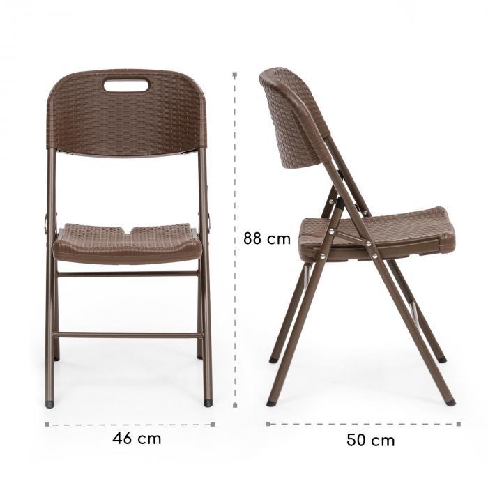 Burgos Mesa P/ Área de Lazer + 2 Cadeiras de Tubos de Aço HDPE Look Rattan Articuláveis