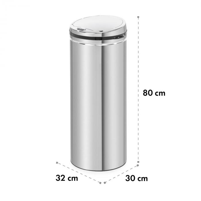 Cleanton Waste Bin Round Sensor 50 Litres for Bin Bags ABS / Stainless Steel