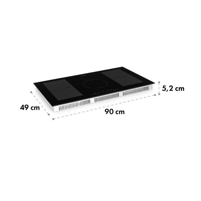 Delicatessa 90 FLex Piano Cottura a Induzione 5 Zone 7000W nero